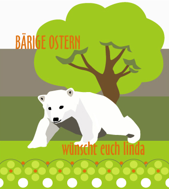Knut als Osterhase - Eisbärenbild