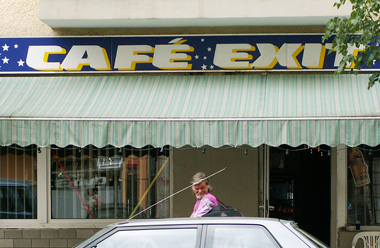 Cafe Exit in der Koloniestra&szlig;e
