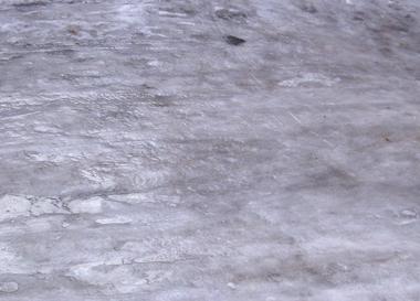 Unser Hof ist eine Eisbahn