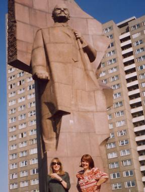 Das alte Lenindenkmal in Friedrichshain