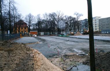 Der Kulturparkplatz vorm Schloss