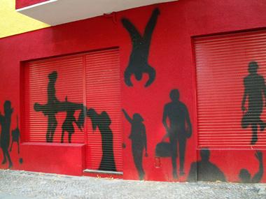 Straßenkunst in der Koloniestraße